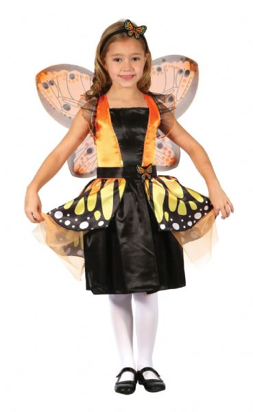 Girls Butterfly Fairy Costume Caterpillar Bug Insect Animal Fancy Dress Outfit